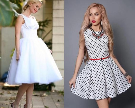белые винтажные платья мини