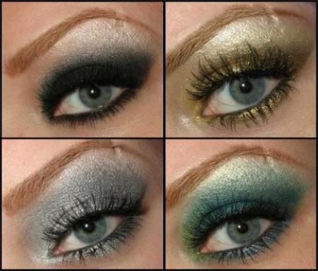 зеленый макияж для голубоглазых