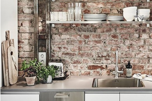 кухня в стиле лофт фото