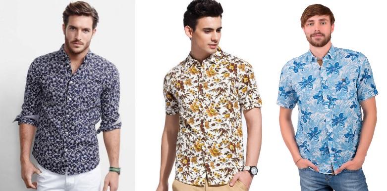 мужские рубашки с принтом