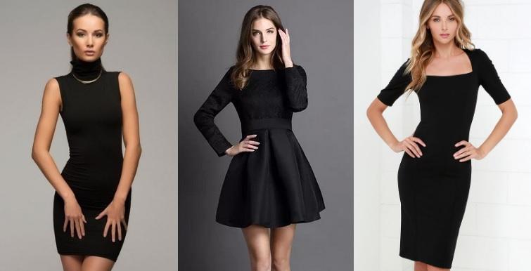 маленькое черное платье разные фасоны фото