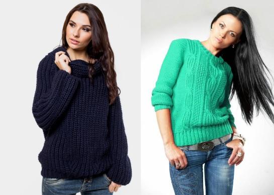 модные свитера крупная вязка