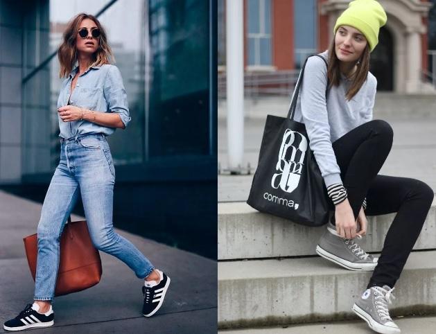 спортивный стиль как носить джинсы фото