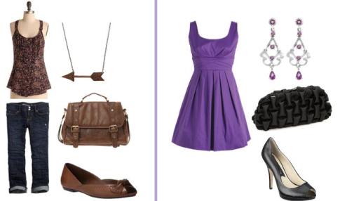 Туфли, платье и сумка