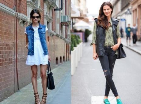 женские джинсовые жилетки с чем носить